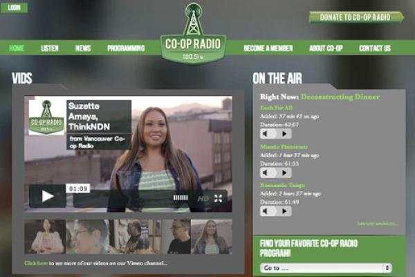 CoopRadio.org Re-theme